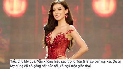 Cư dân mạng tiếc nuối vì Huyền My trượt top 5 Miss Grand International 2017