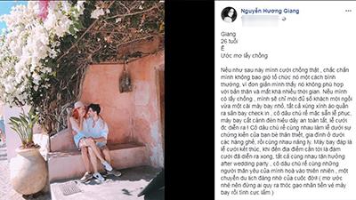 Hương Giang Idol chia sẻ về đám cưới trong mơ