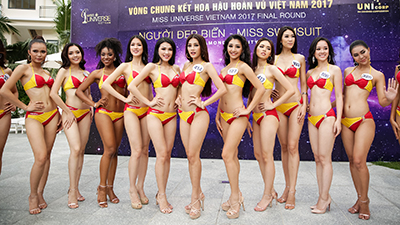 Top 45 Hoa hậu Hoàn vũ Việt Nam khoe dáng nóng bỏng trong phần thi Người đẹp biển