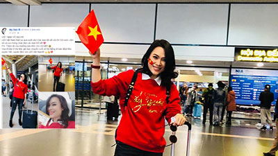 Mỹ Tâm nhắn nhủ các cầu thủ U23 Việt Nam: Thèm ăn rau muống xào nhớ cho chị biết!