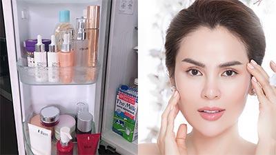 Tủ lạnh nơi cất giữ 'bí mật' làm đẹp của Hoa hậu Phương Lê