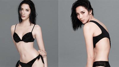 Á hậu Hoàng Thùy khoe vòng 3 gợi cảm trong bộ ảnh bikini mới