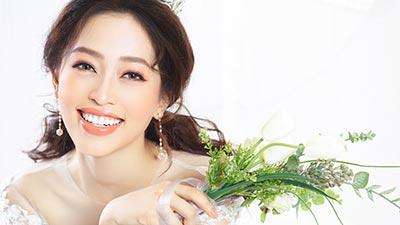 Ngẩn ngơ trước vẻ đẹp ngọt ngào của 'cô dâu' Phương Nga