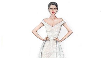 Lộ diện chiếc đầm Hoa hậu Tiểu Vy sẽ mặc trong đêm chung kết Miss World 2018