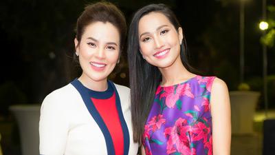 Hoa hậu Phương Lê nổi bật với 'cây' hàng hiệu đọ sắc cùng mỹ nhân chuyển giới Hoài Sa