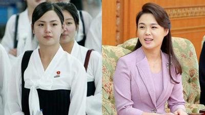 Ngoài phong cách, Đệ nhất phu nhân Triều Tiên còn sở hữu làn da và mái tóc đáng ngưỡng mộ
