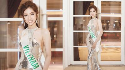 Nhật Hà khoe đường cong với đầm dạ hội, ra mắt fan Thái Lan