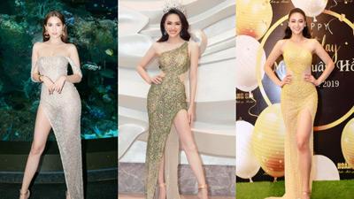 Ngọc Trinh - Hương Giang chiếm thế thượng phong với kiểu váy mỏng dính như sương trên thảm đỏ Vbiz 3 tháng đầu năm