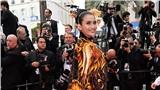 Trái ngược với Ngọc Trinh, Trương Thị May kín đáo với áo dài truyền thống trên thảm đỏ Cannes 2019