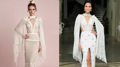 Hoa hậu H'Hen Niê bị thương hiệu váy cưới nước ngoài 'bêu' trên Instagram vì mặc đồ đạo nhái