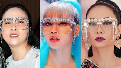 1 chiếc kính 3 số phận: Lisa (BlackPink) đi tiên phong, Thu Minh bị tố 'đạo nhái', nhưng Phượng Chanel lại gây cười nhất