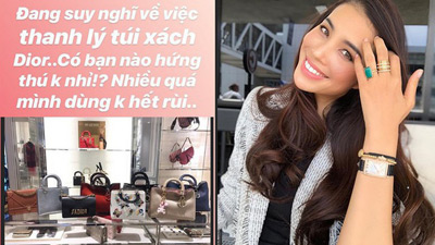 Cuối cùng ngày ấy của Phạm Hương cũng đến, túi Dior ngập nhà không dùng hết và cần thanh lý