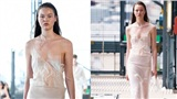 Dàn người mẫu gần như khỏa thân, quấn khăn, lộ vòng 1 trên sàn diễn Tuần lễ thời trang Paris