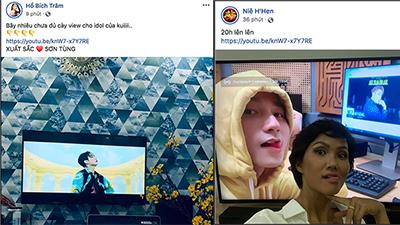 Không chỉ chia sẻ rầm rộ trên mạng xã hội, nhiều sao Việt còn tích cực cày view cho MV 'Hãy Trao Cho Anh' của Sơn Tùng MTP