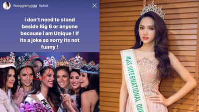 Hương Giang khẳng định 'mình là duy nhất' sau bức ảnh thiếu tôn trọng do Missosology đăng tải