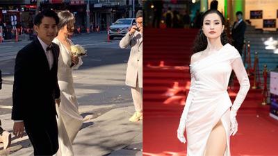 Chỉ mới lộ vài tấm ảnh chụp vội, dân tình đã phát sốt dự đoán váy cưới Đông Nhi