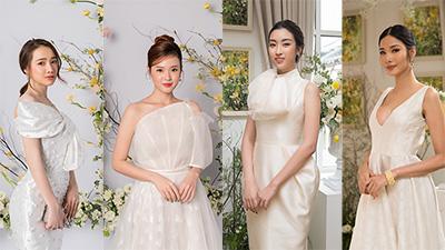 Hoàng Thùy khoe vòng 1 sexy, Đỗ Mỹ Linh - Nhã Phương - Midu đẹp tựa nữ thần khi diện váy trắng