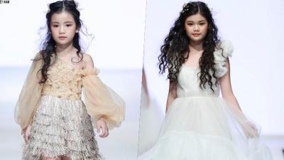 Chị em nhà người ta: Hai nàng Hoa hậu nhí dắt nhau lên chiếm lĩnh cả sàn diễn thời trang