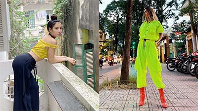 Street style Sao Việt ngày lễ: H'Hen Niê quyết tâm nổi nhất phố phường, Hoàng Thùy tiếp tục làm fan 'bỏng mắt'