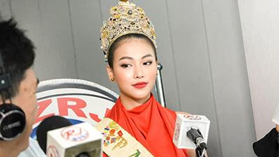 Phương Khánh xuất hiện xinh đẹp trên kênh truyền hình hàng đầu của Philippines