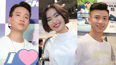 Chỉ diện áo phông trắng đơn giản, Châu Bùi, JustaTee và Phan Văn Đức vẫn nổi bần bật tại sự kiện