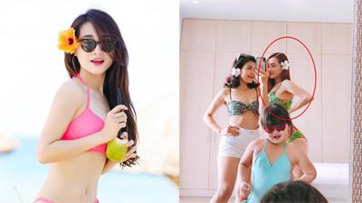 Lần hiếm hoi Nhã Phương mặc bikini sau khi lấy Trường Giang