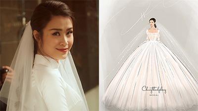 NTK Chung Thanh Phong hé lộ 2 bản sketch váy cưới được dân tình mong chờ nhất của Đông Nhi