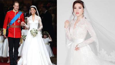 Bất ngờ khi váy cưới của Bảo Thy tinh tế giống của Công nương Anh Kate Middleton