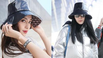 Hai nữ hoàng thảm đỏ Phạm Băng Băng - Angelababy đụng hàng chiếc nón lưới Dior kén mặt