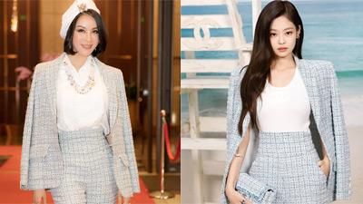 Xúng xính váy áo hàng hiệu đi sự kiện, MC Thanh Mai bất ngờ đụng hàng Jennie (Black Pink)