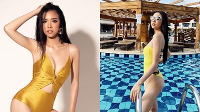 Á hậu Thúy An khoe dáng 'nuột nà' với bikini vàng bắt mắt tại Miss Intercontinental