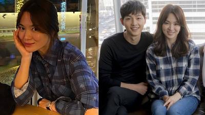 Chiếc áo sơ mi Song Hye Kyo mới mặc có liên quan mật thiết đến Song Joong Ki?