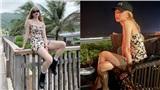 Rosé Black Pink diện váy hoa cúc khoe chân nuột nhưng Thiều Bảo Trâm đã mặc items này từ lâu lắm rồi