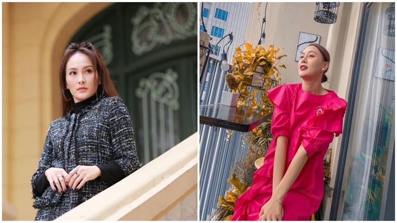 Street style của dàn diễn viên VTV: Linh và Tuệ Lâm cùng chọn váy dáng dài, Phương Oanh váy màu chóe