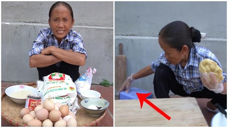 Bà Tân Vlog tiếp tục mắc lỗi mất vệ sinh khi làm clip đồ ăn