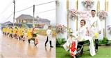 Đám hỏi rước dâu bằng 'siêu xe' rùa gây ấn tượng ở Thái Nguyên