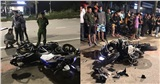 Mô tô phân khối lớn chạy tốc độ kinh hoàng bất ngờ đâm vào xe máy khiến 3 người thương vong