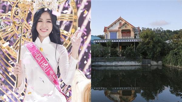 Hé lộ hình ảnh ngôi nhà to nhất làng của Tân Hoa hậu Đỗ Thị Hà