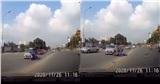Clip 'dậy sóng' MXH: Đâm vào ô tô ngã văng, chồng bỏ mặc vợ nằm đau giữa đường để đuổi theo con chó