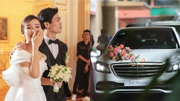 Clip: Hình ảnh xe sang hơn 7 tỷ đồng đi đón dâu của Công Phượng