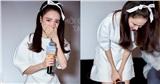 Nhã Phương bật khóc, cúi người xin lỗi vì tới muộn 2 tiếng ở họp báo ra mắt phim Song Song