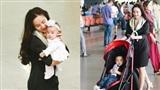 Gia đình Vy Oanh gây náo loạn sân bay vì cậu cả quá hiếu động