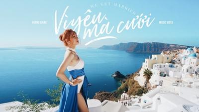 Bức tranh thiên đường Santorini đẹp mê mẩn trong MV 'Vì yêu mà cưới' của Hương Giang Idol