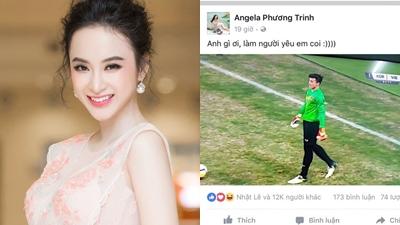 Cộng đồng mạng 'quỳ lạy' Angela Phương Trinh buông tha cho thủ môn Bùi Tiến Dũng