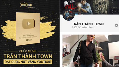 Trấn Thành trở thành nghệ sĩ hài đầu tiên của Việt Nam đạt nút vàng Youtube
