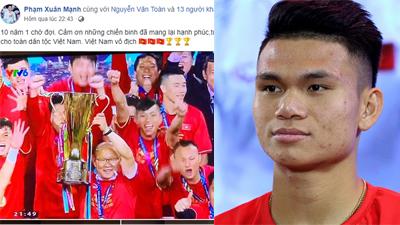 Dân mạng đồng loạt gửi lời động viên đến Xuân Mạnh, cầu thủ lỡ hẹn AFF Cup vì chấn thương