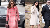 So kè style bầu bí của Công nương Kate và Meghan: Chị kín đáo khiêm nhường, em bụng to lại 'chẳng ngán' diện đồ bó