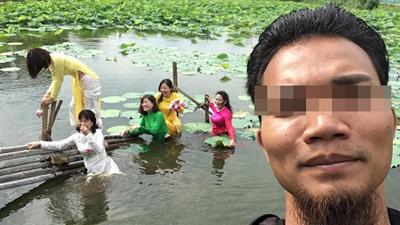 Xúng xính diện áo dài đi chụp ảnh, các cô gái gặp sự cố dưới hồ, thái độ sau đó mới gây bất ngờ