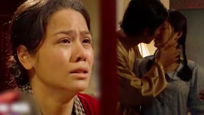 'Tiếng sét trong mưa': Lại có cảnh anh em ruột hôn nhau trong phòng ngủ, Thị Bình nhìn thấy mà chết đứng