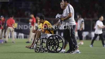Cầu thủ Indonesia bị gãy xương vì trận gặp U22 Việt Nam, không phải Evan Dimas